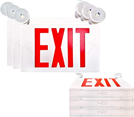 LED Exit Sign Emergency 90 Minute Battery Backup Wall Ceiling UL Listed 2 PACK
