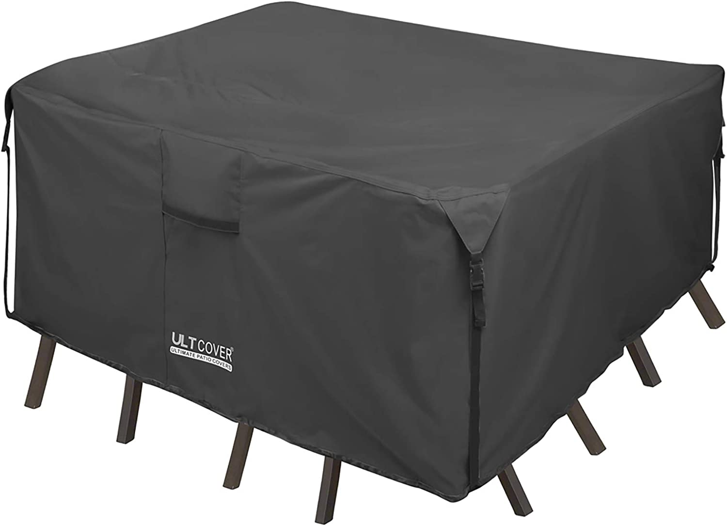 Amazon Com Ultcover 600d Tough Canvas Durable Square Patio Table And Chair Cover Waterproof Outdoor General Purpose Furniture Covers 54 Inch Black Furniture Decor