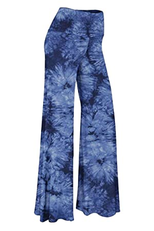 COCOLEGGINGS Womens Fold Over Waist Wide Leg Palazzo Lounge Pants