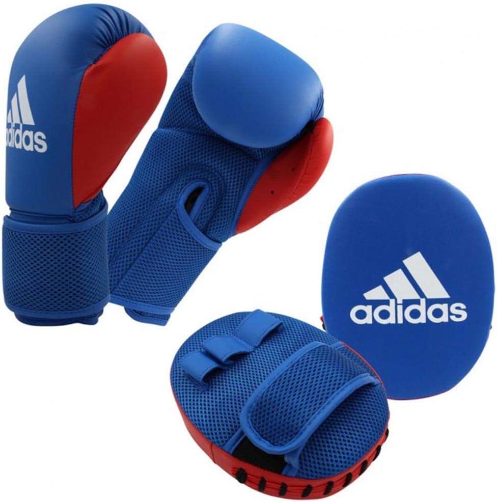adidas Kids Boxing Kit 2 Juego de Accesorios para niños, Azul/Rojo, 8