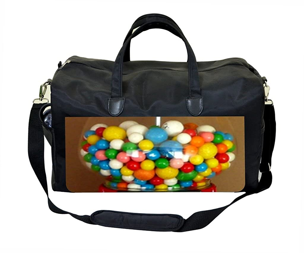 Gumball Dispenser Print PU Leather and Suede Weekender Bag