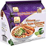 MyKuali/Malaysia Best Brand/Red Tom Yum Goong Noodle/Piping Hot Flavor/Strong Thick Broth With Lemongrass, Shrimp Notes & A Nice Bit Of Sweetness from Food Heaven, Penang Malaysia (4 x 105g)