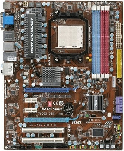 AM3/140W CPU/AMD 790GX CrossFire/4DDR3-1600(OC)/ATI CrossFireX/Radeon HD 3300/GbE/HDMI/DVI/VGA/R/A/1394/ATX Motherboard (1600 16 Channel 4 Bus)