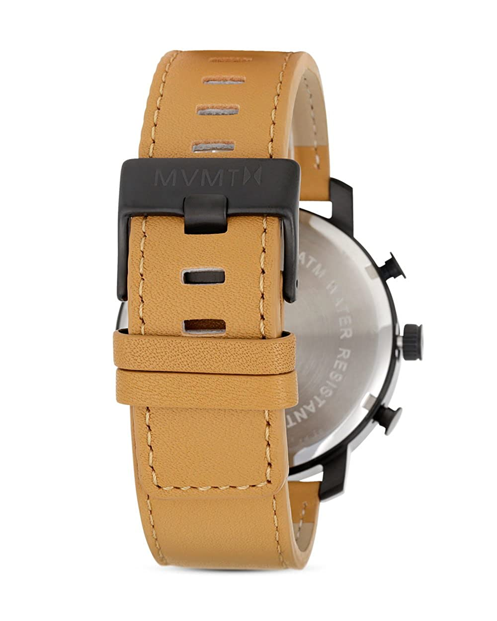 70f5a380430 MVMT Watch Classic Black Tan Leather  Amazon.co.uk  Watches