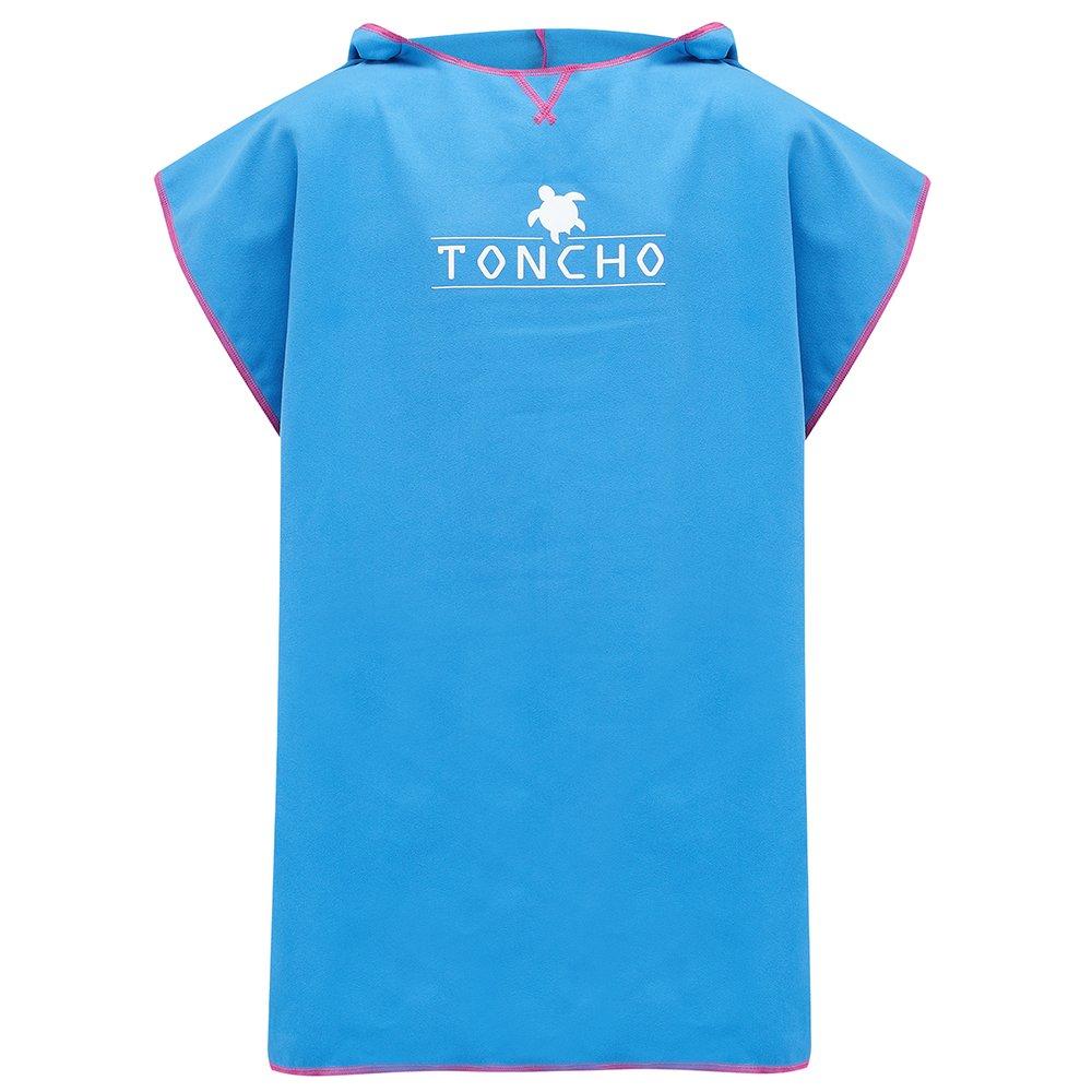 Farbwechsel TONCHO Ultra Leichter Handtuch-Poncho//Bademantel f/ür Jungen und M/ädchen Fuchsia Strandtuch f/ür Kinder Badetuch mit Kapuze