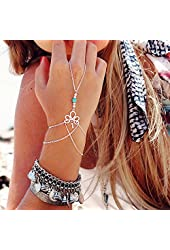 AutumnFall® Fashion Retro Bracelet Finger Ring Bangle Slave Chain