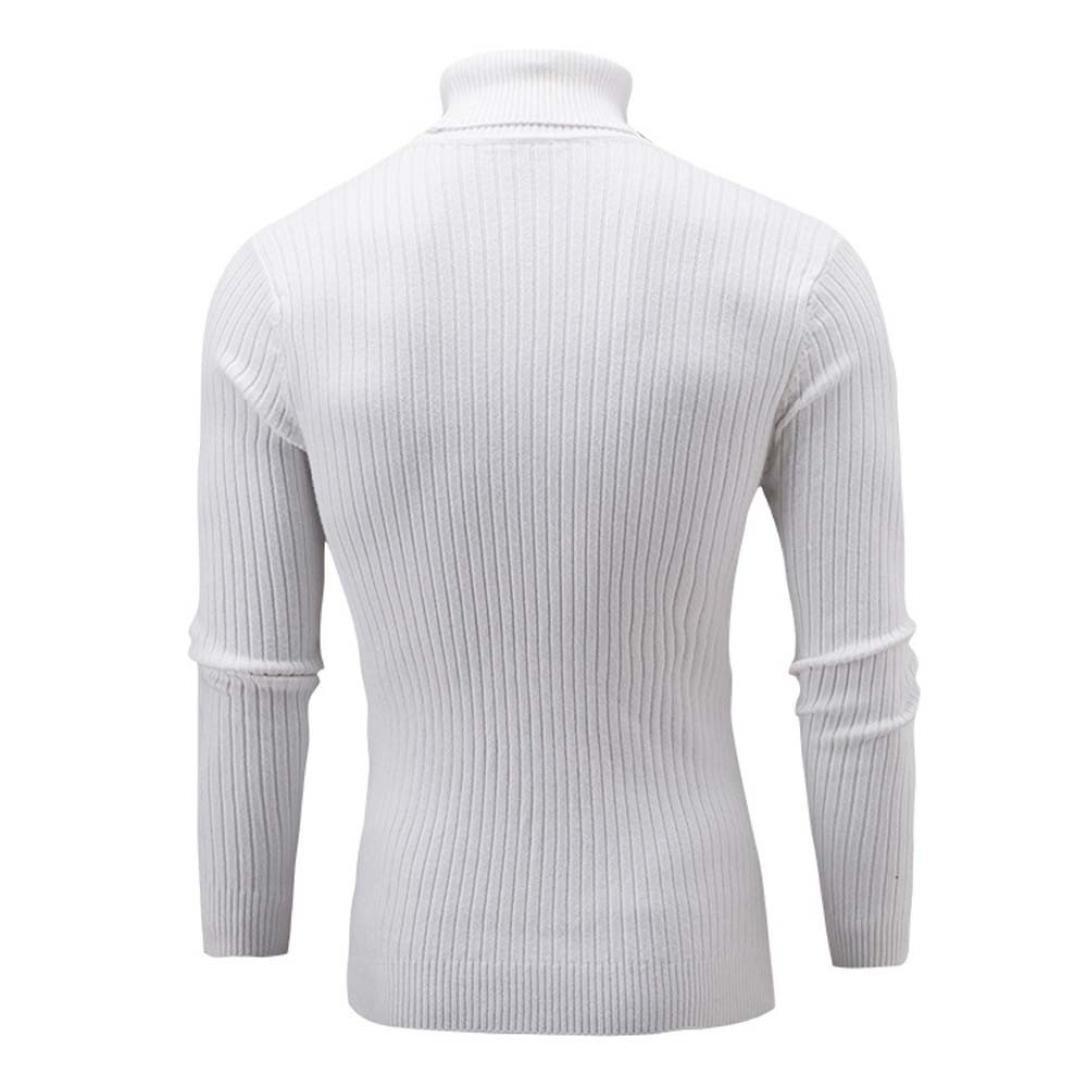 Jaminy Men/'s Sweater Plus Size High Neck Pullover Jumper Slim Fit Warm Knitting Turtleneck Top Blouse