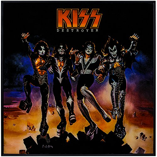 KISS Destroyer Framed Album Cover Wall Art 70's 80's Rock -