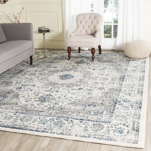 Safavieh Evoke Collection EVK220D Vintage Oriental Grey and Ivory Area Rug (10' x 14') (X Area Rugs 14 10)