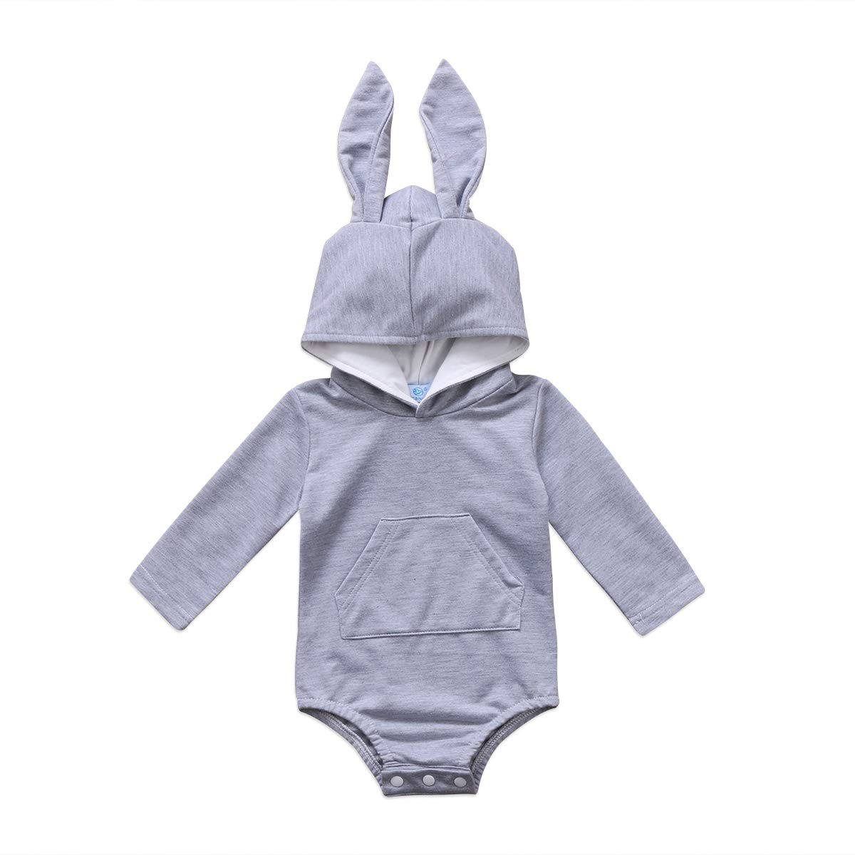 FEORJGP Newborn Infant Baby Girl Boy Long Sleeve Hooded Romper Kids Rabbit Bunny Clothes