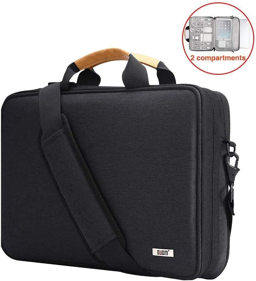 BUBM 15.6 Inch Laptop Shoulder Bag,360 Protective Carrying Case Compatible for Acer Aspire 3/5/7, HP Pavilion 15.6, Dell Inspiron 15 3000, 15.6 ASUS ROG Zephyrus and ASUS Samsung 15 Inch Notebook
