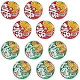12 pack Akai kitsune Udon (6pack) and Midori no Tanuki Soba (6pack) set