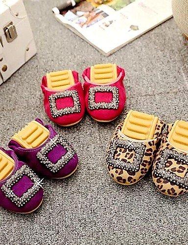 eu37 estilo 7 la caliente rojo oficina talón 5 nuevo PDX uk4 leopardo Libo us6 5 morado leopard venta y plano zapatos comodidad mujer cn37 carrera casual Flats 5 de EYwEgxqSA