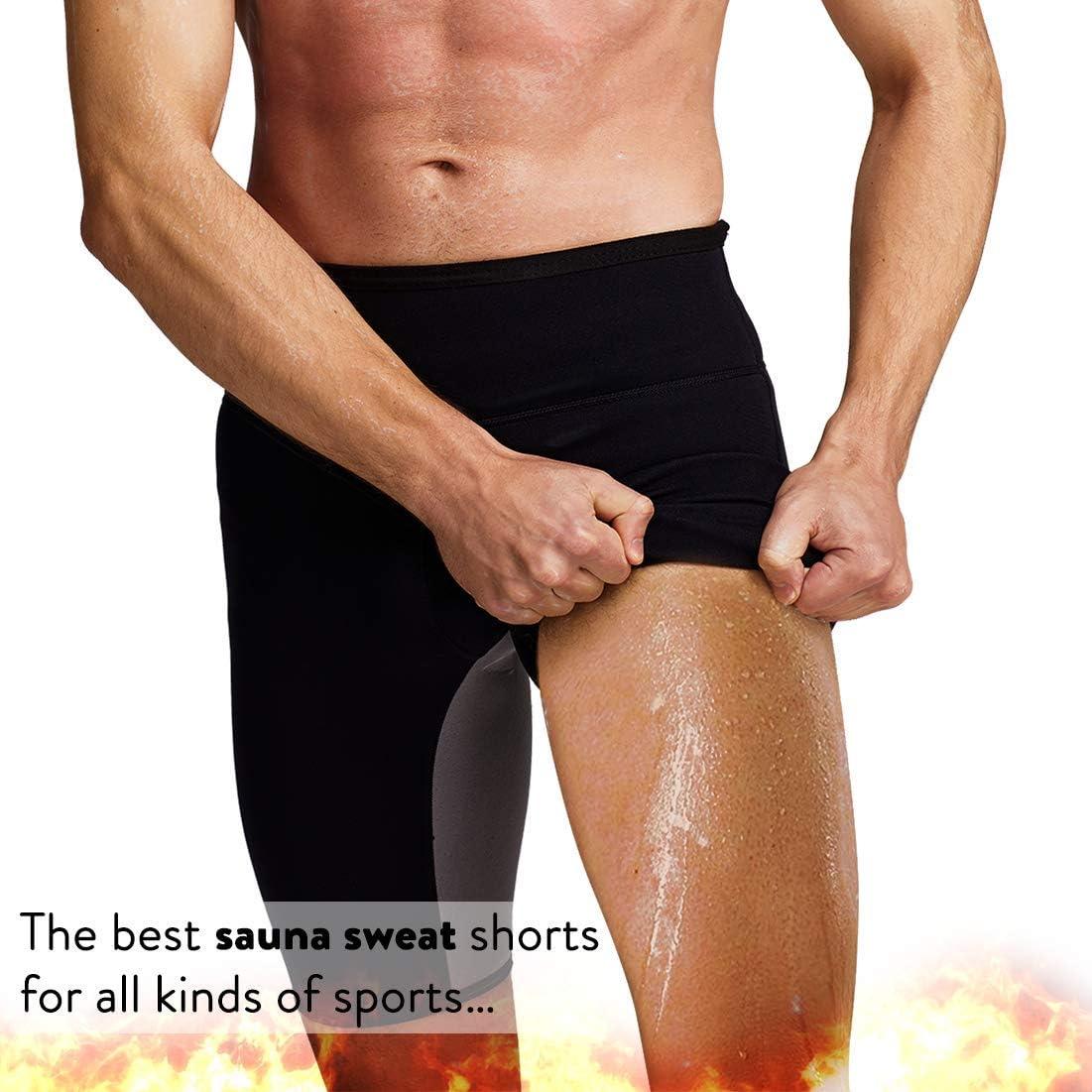 Martiount Pantalones de Sauna para Hombre Rutina de Ejercicio Pantalones Body Shaper Pantalones Cortos de Neopreno Que Adelgaza de la P/érdida de Peso Pantalones Slim Gym Tummy Fat Burner Fitness