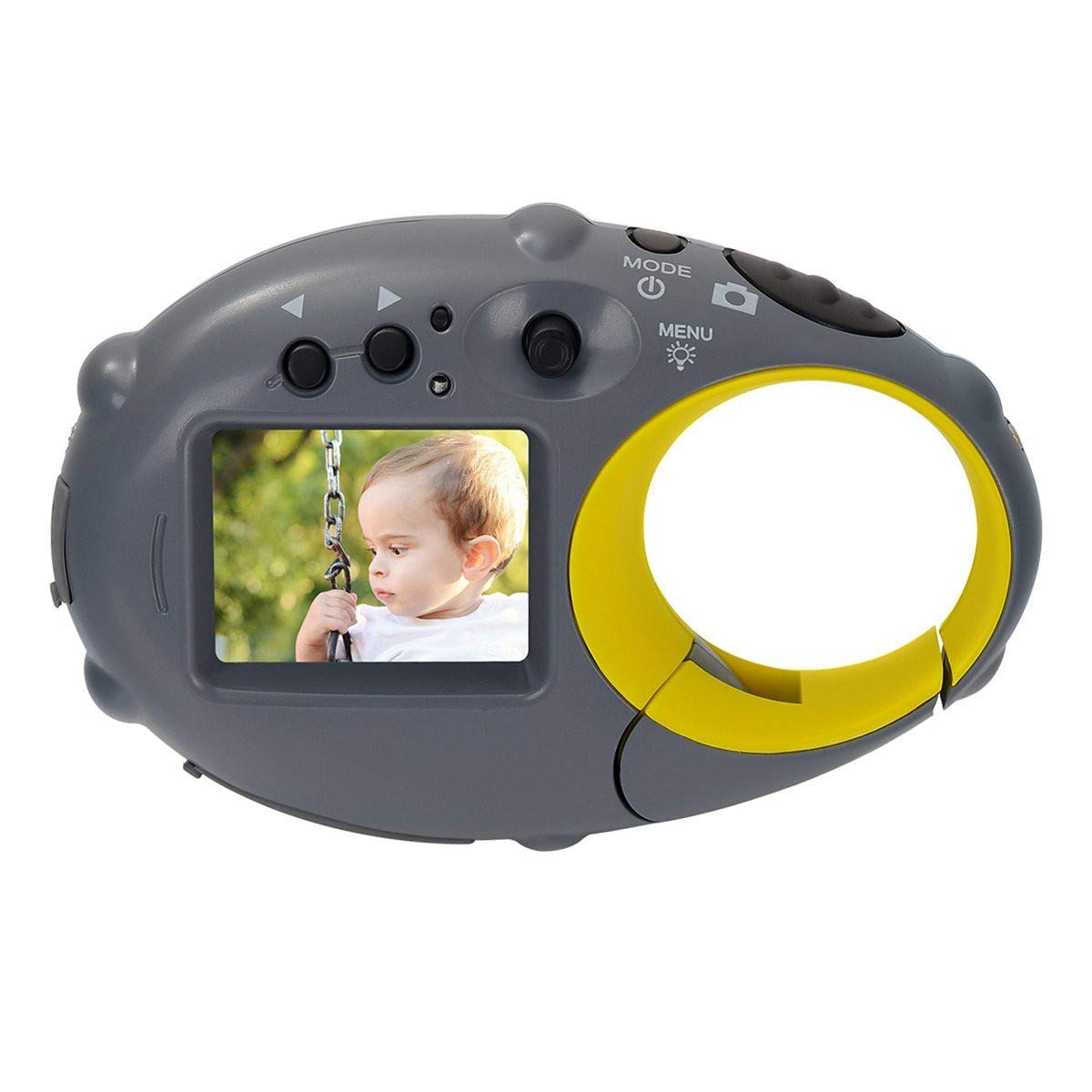 Sdoveb Mini Kids Camera, Digital Camera for Children Kids Photo Camera Action Camcorder Compact Camera 1280P Video 500 Million Pixels 1.5-inch Color Screen (Yellow) by Sdoveb (Image #1)