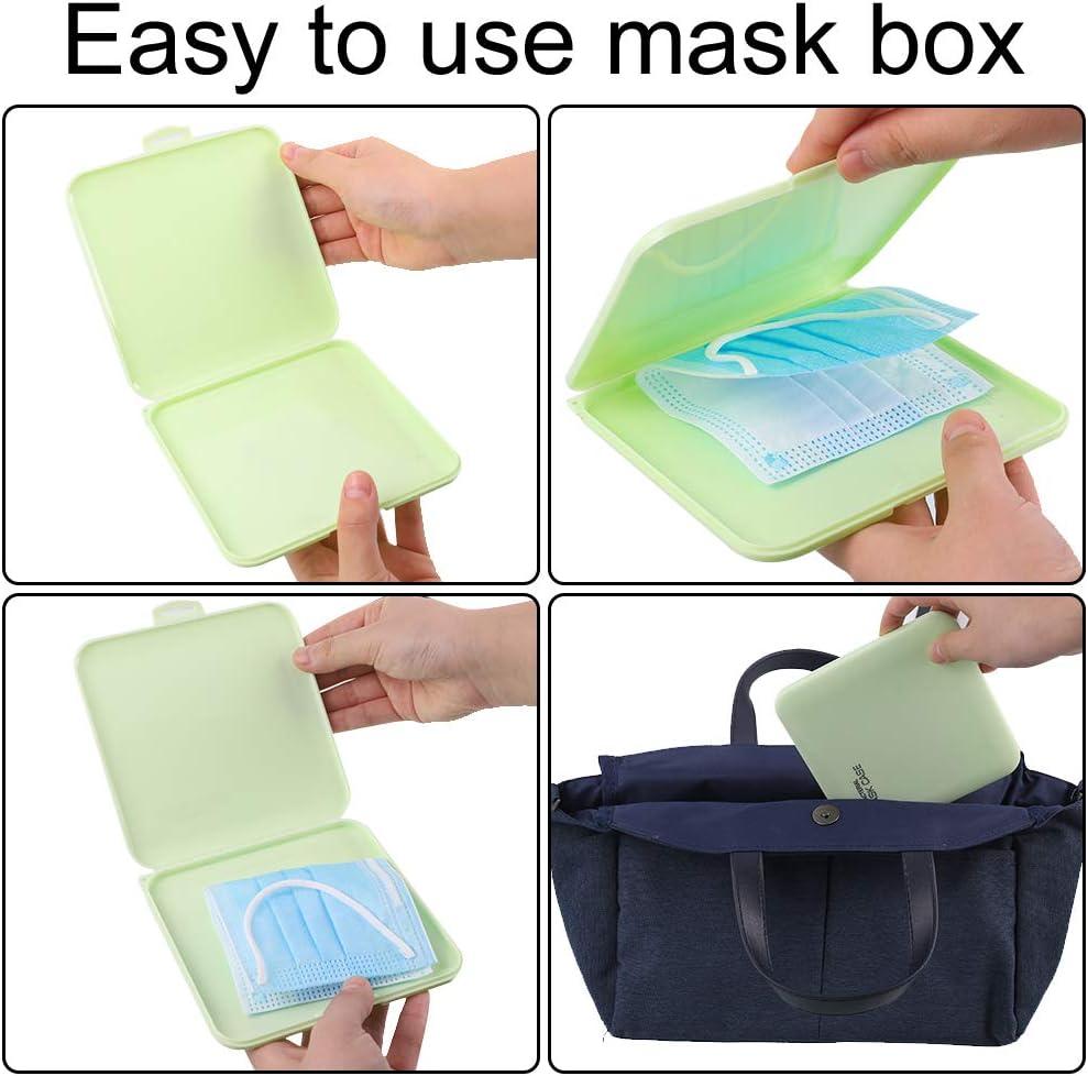 Opopark 8 Caja de Almacenamiento de Cubierta Facial Estuche de Protecci/ón Facial con Sello de Pl/ástico Antipolvo Port/átil