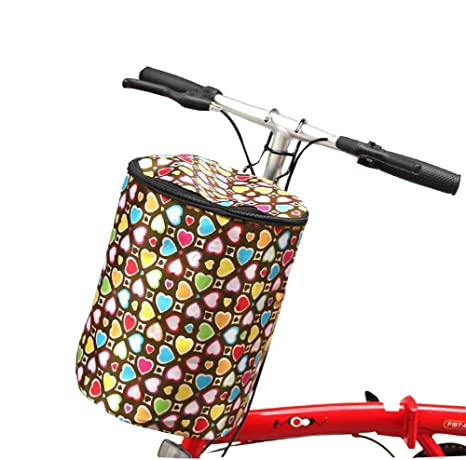 Black Temptation Cesta de Bicicleta Delantera Colorida Plegable ...