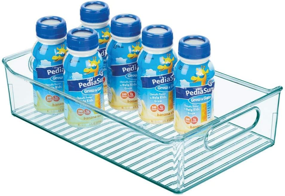 hellblau Windeln Stofftiere /& Co BPA-freier Kunststoffbeh/älter mit gro/ßem Fach f/ür Spielzeug mDesign Kinderzimmer Organizer Sortierbox mit praktischen Griffen ohne Deckel