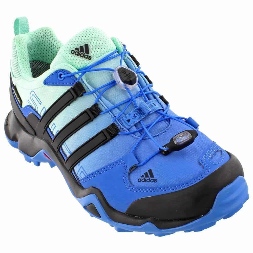 buy popular a874f 96c0a Galleon - Adidas Terrex Swift R Gtx W Ray Blueblackice Green Womens  Hiking Shoes - 6.5 B(M) US