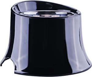 Super Design Elevated Dog Bowl Raised Dog Feeder for Food and Water, Non Spill Edges & Non Skid Sturdy Melamine Stand, Reduce Neck Stress, Less Regurgitating and Vomiting 4 Cup Black