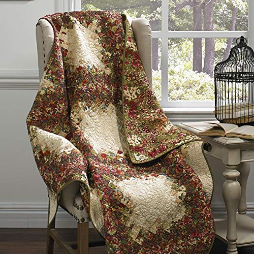 Donna Sharp Watercolor Irish Chain Cotton Throw/Blanket 55
