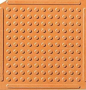 Knob top kitchen mats orange 3 39 x 3 39 kitchen dining - Orange kitchen floor mats ...