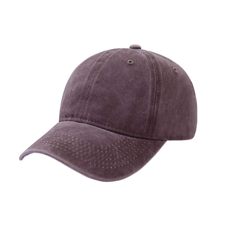 peals Cotton Fashion Sport Adjustable Visor Baseball Cap Women Solid Hat Washed Cap Men Plain,Coffee