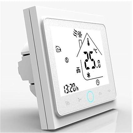 Yiruy Aire Acondicionado 4-tubos Tres Viento Velocidad Termostato Habitación Controlador de temperatura Pantalla LCD