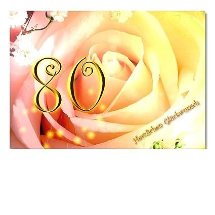 DigitalOase - Tarjeta de felicitación 80. Cumpleaños ...