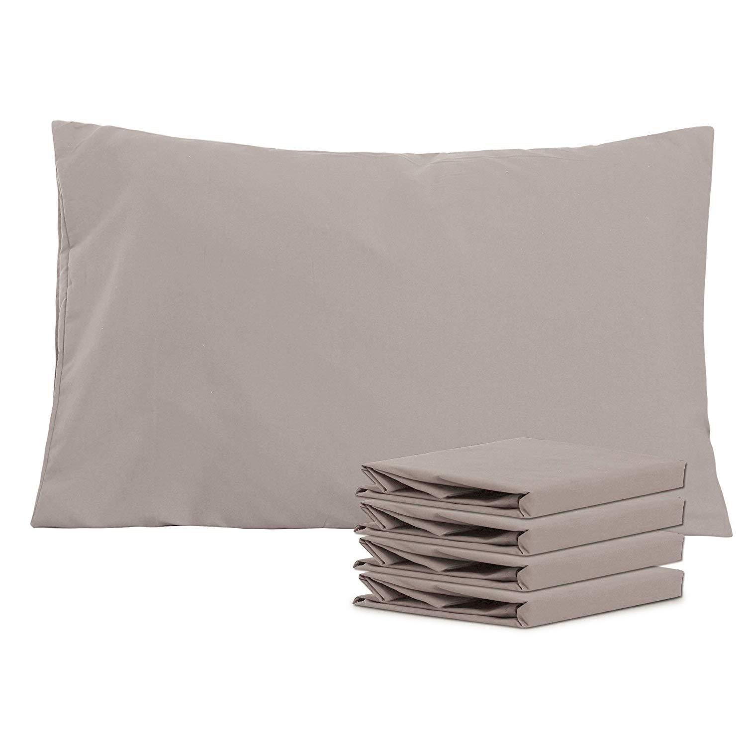 NTBAY 100/% Brushed Microfiber Pillowcases Set of 4 Stain Resistant Soft and Cozy Black 50x75 cm Anti Wrinkle