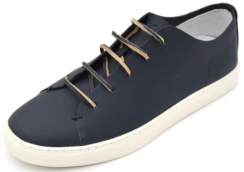 Armani Jeans Herren Turnschuhe Freizeitschuhe Turnschuhe Casual Leder Art. C6527 43 EU - 9,5 USA - 9 UK Blau Blau