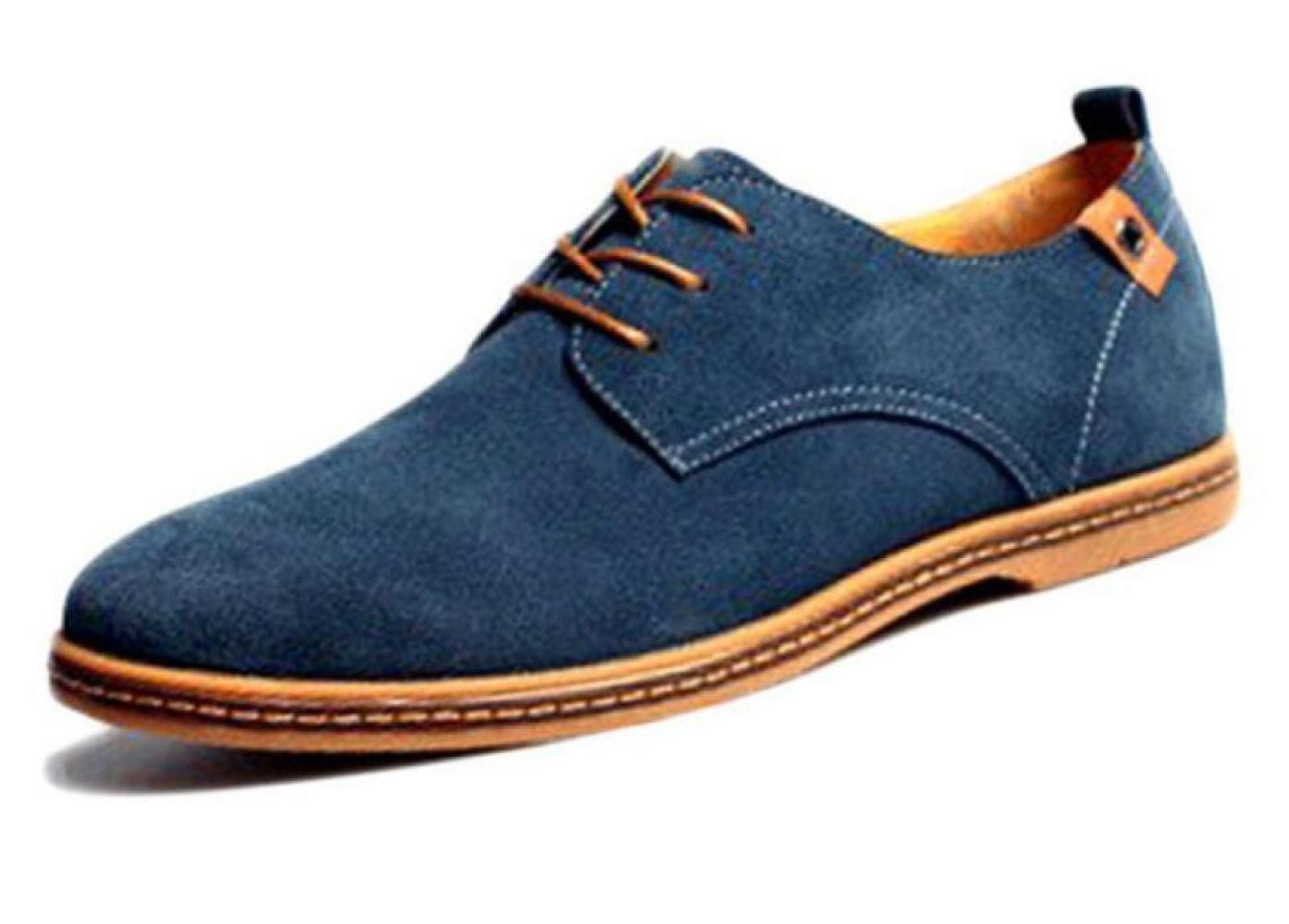 DHFUD Zapatos Casuales Para Hombres Zapatos De Gamuza Para Hombres 40 EU|Skyblue
