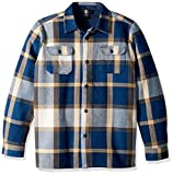 Volcom Big Boys' Heavy Daze Flannel Long Sleeve Shirt, Indigo, M