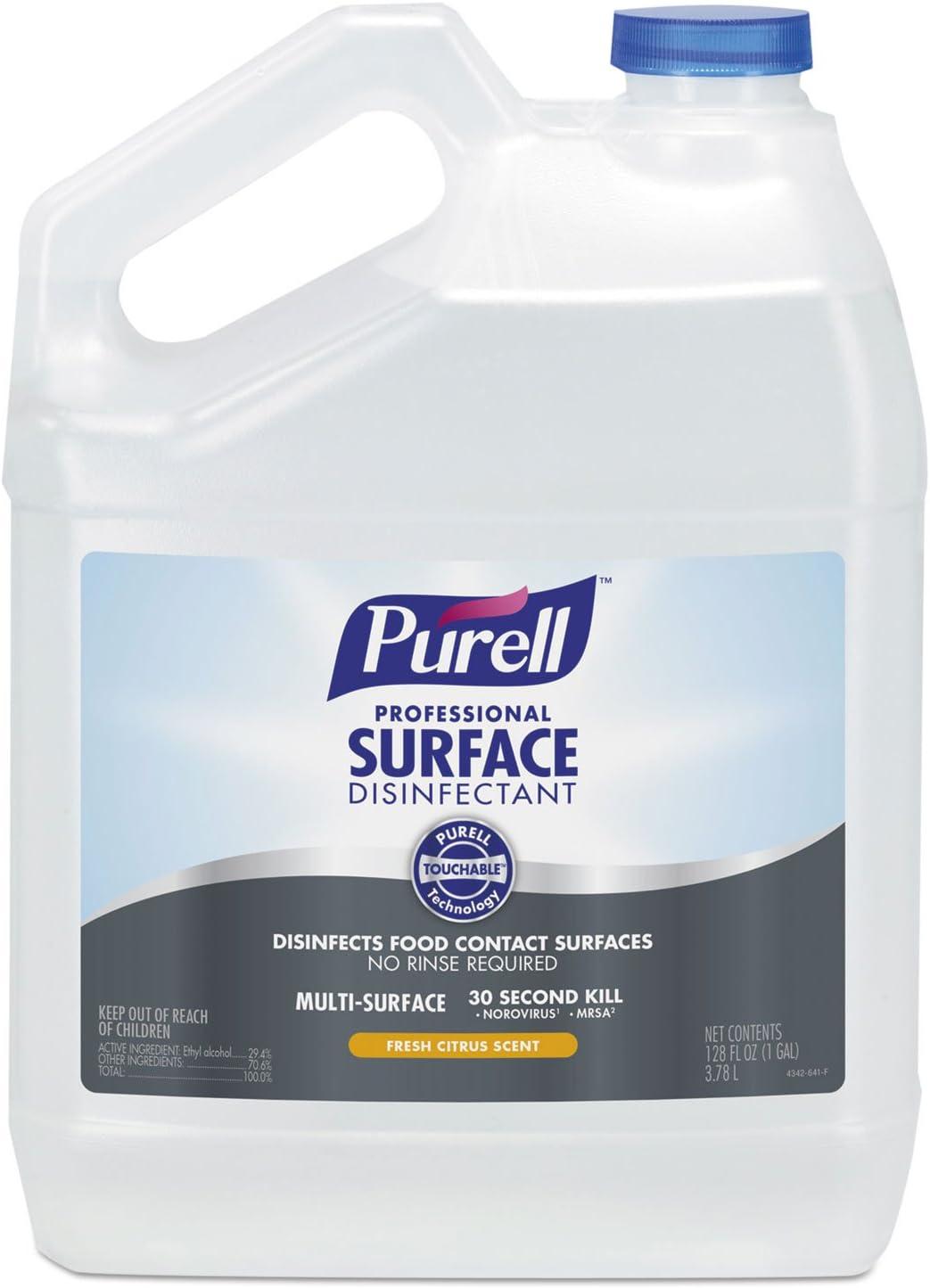 PURELL 434204EA Professional Surface Disinfectant, Fresh Citrus, 1 gal Bottle