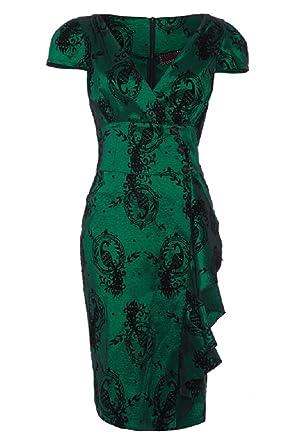 Emerald Green Peacock Dress
