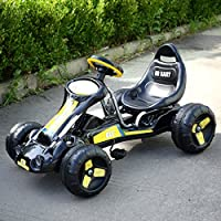 JAXPETY Go Kart Kids Ride 4 Wheel on Car Stealth Pedal Powered Outdoor Racer ...