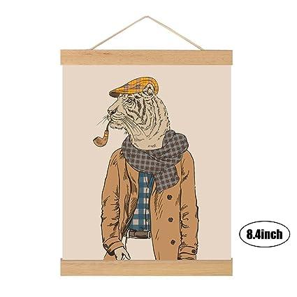 Amazon Com Estink Magnetic Wood Frame Diy Poster Scroll Artwork