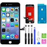 QTlier iPhone 7 Screen Replacement,LCD Display and Touch Screen Digitizer Replacement Frame Assembly with Repair Tool Kit(Bla