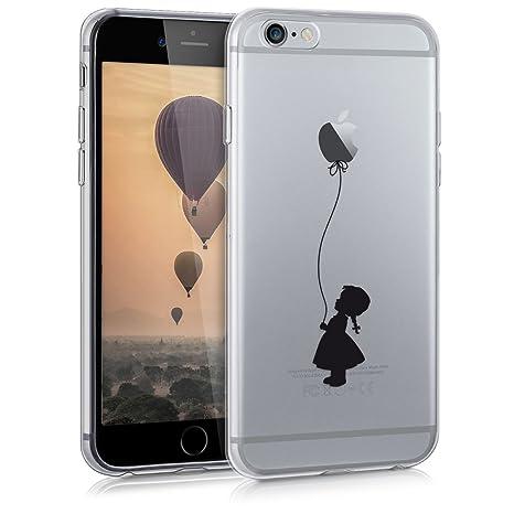 nuovo di zecca 7d10e 2692b kwmobile Apple iPhone 6 / 6S Cover - Custodia in silicone TPU per Apple  iPhone 6 / 6S - Backcover cellulare nero / trasparente