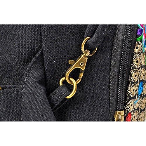 Mochila bolsa de viaje - TOOGOO(R) Mochila bolsa de viaje de lona floral de estilo nacional