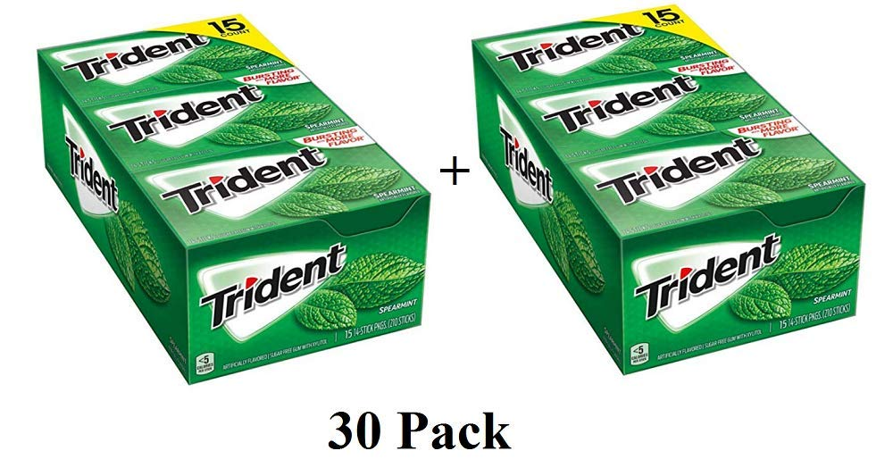 Spearmint Sugar-Free (30 pk.) by Trident