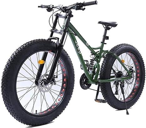 Bicicletas 26 pulgadas de mujeres de la montaña de doble freno de disco Fat Tire montaña