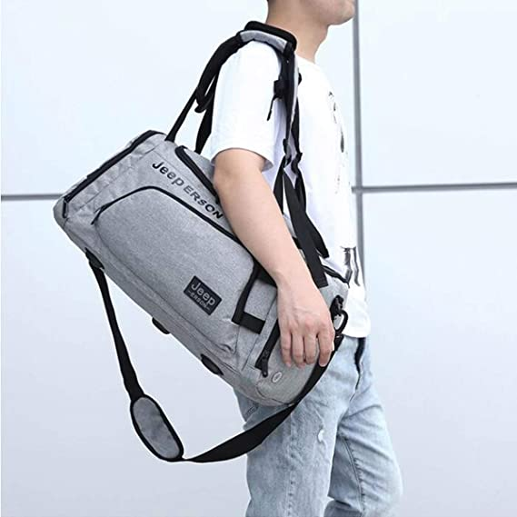 Short Travel Bag Color : Dark Gray Large Capacity Gym Bag Male Shoulder Bag Hand Bag Size: 542526cm Male Travel Bag Kaiyitong Sports Bag