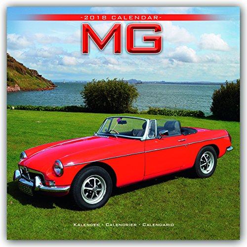 MG Calendar- Calendars 2017 - 2018 Wall Calendars - Car Calendar - Automobile Calendar - MG 16 Month Wall Calendar by Avonside