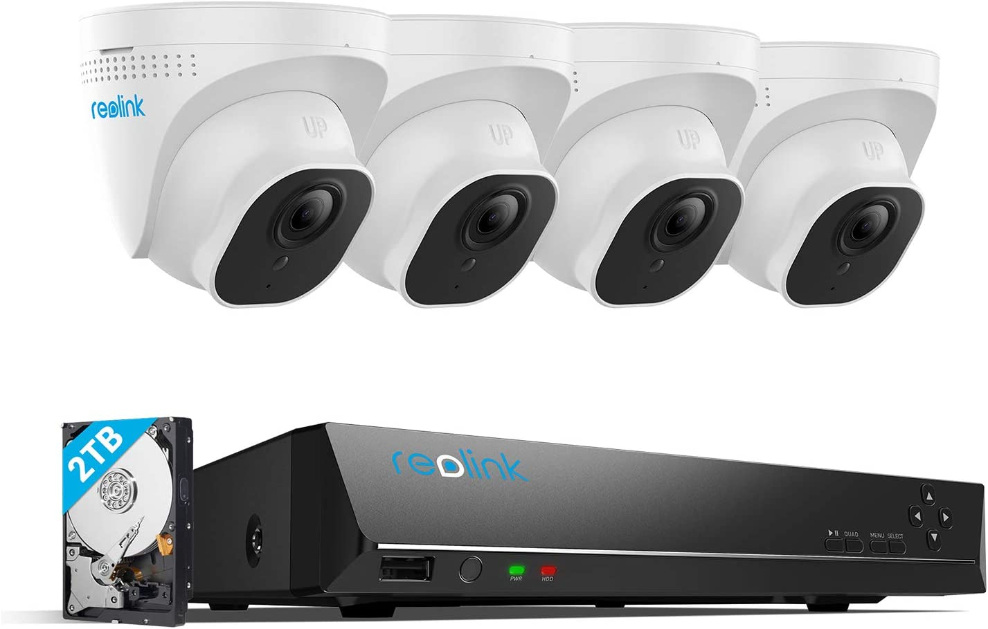 Reolink 4K 8MP HD PoE Kit de Vidéo Surveillance Extérieure, Système de...