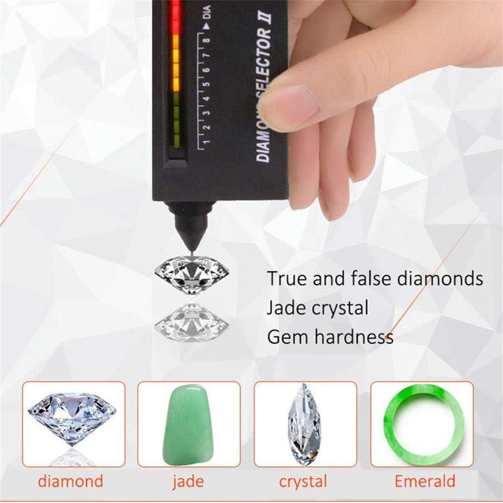 NOBGP Tester Professionale per gioielliere Penna per Tester di Gemme con selettore di Diamanti ad Alta precisione Strumento di Controllo rapido e Portatile per Gioielli in Pietra di Rubino di Giada