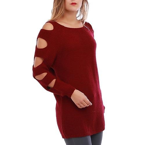 La Modeuse -  Maglione  - Donna rosso Taglia unica