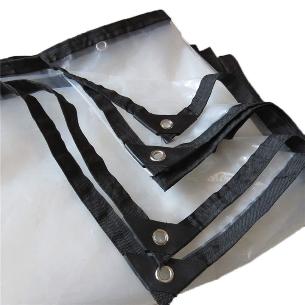 2m×12m KYSZD-Baches Polyvalent Transparent BÂche Tapis de Camping Résistant aux intempéries et aux UV Polyéthylène Couverture de Sol Tissu d'isolation Oeillets en Aluminium