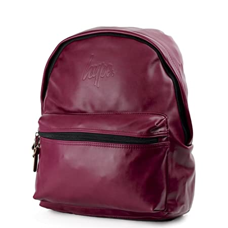 HYPE Embossed Script Backpack Burgundy School bag SS18BAG-115 HYPE Bags   Amazon.co.uk  Luggage c209cd5f17d20