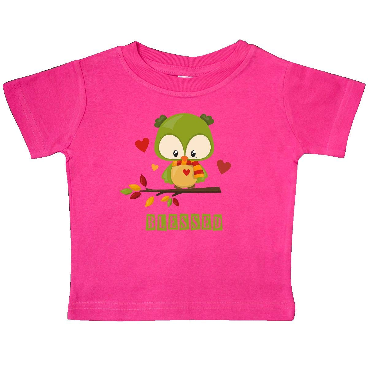 inktastic Blessed Thanksgiving Owl Baby T-Shirt